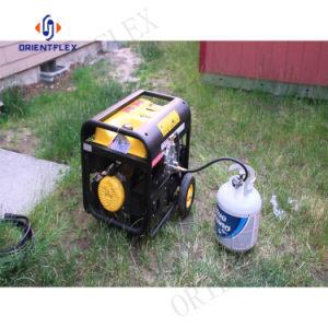 Mangueira de propano e o adaptador de alta pressão