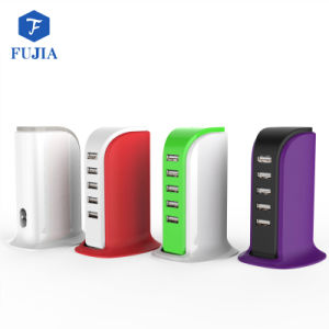 Cargador de tableta electrónica de la estación de cargador USB de escritorio para varios dispositivos USB cargador de pared de más rápido de viaje