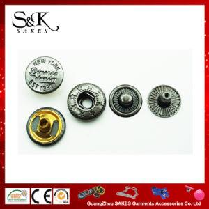 Novo design do botão de encaixe de metal com diferentes sob 3 Parte