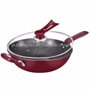 Углеродистая сталь посуда Woks Non-Stick высокого качества с двухслойным нижней части