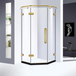 El lujo de cristal templado de 10mm sin cerco Diamond ducha con puertas batientes