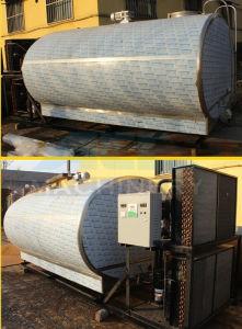 Tipo orizzontale sanitario attrezzatura di refrigerazione del latte del serbatoio di raffreddamento del latte (ACE-ZNLG-7H)