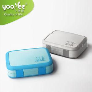 Plástico Yooyee Lunch Box 4 compartimento com prova de vazamento de alta qualidade Bento caixa para a escola