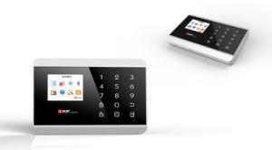 Teclado de toque do sistema de alarme sem fio GSM&PSTN Burgualr Visor a cores TFT de sistema de alarme com 99 zonas de defesa Sem Fio (KR-8218G)
