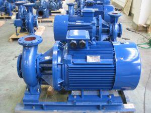 닫 결합된 끝 흡입 원심 수도 펌프, 수직 인라인 펌프, 승압기 펌프, 순환 펌프, 단단 펌프, 청동색 임펠러를 가진 DIN24255 펌프