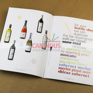Stampa del libro della parte posteriore della carta da stampa dell'opuscolo di stampa del catalogo di stampa del catalogo