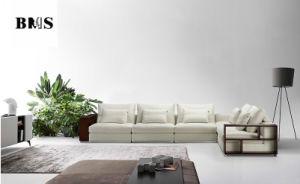 Sofá de Diseño de lujo de gama alta con apoyabrazos de madera