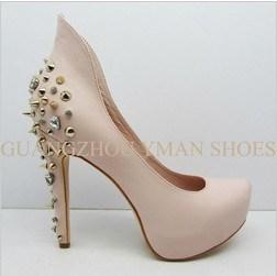 2013 La plate-forme talons hauts femme mode Chaussures en cuir véritable