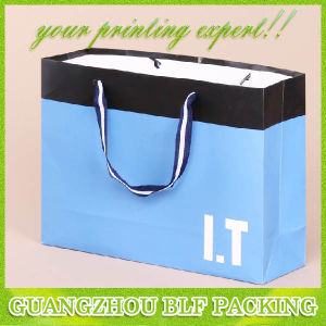 Clothing blu Shopping Package Paper Tote Bag Rope Handled