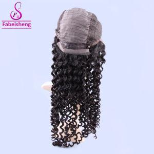Kinky afro ondulado Cabelo humano Lace Peça Frontal