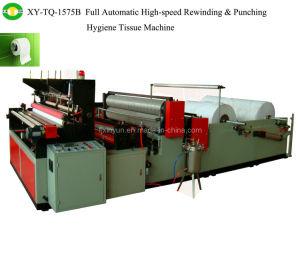 Full-Automatic Edge-Trimming Tail-Gluing Repujado Rebobinar y perforar la máquina de papel higiénico