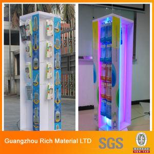 アクリルのプラスチック表示またはプレキシガラスの陳列だなかアクリルPMMAラック