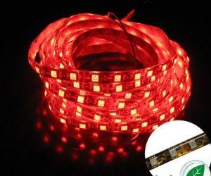 Resistente al agua IP64, 3528 SMD LED rojo de la luz de tira de LEDs 60/M (3528-IP64).