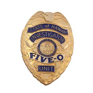 3D de metal personalizados de esmalte de oro y plata de la Policía Militar de la impresión de la bandera del Ejército Pin como