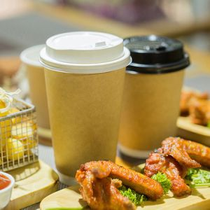 Libre de plástico biodegradable Compostable vasos de papel café recubrimiento PLA