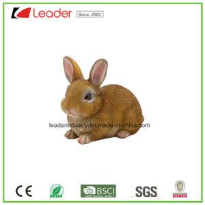 Adorable conejo Polyresin estatua del jardín multicolor,