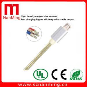 Cable micro del cargador de los datos de la sinc. del USB de la tela trenzada