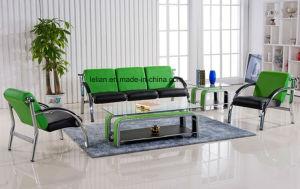 Disposizione dei posti a sedere di cuoio competitiva del sofà per la zona pubblica (LL-W008)