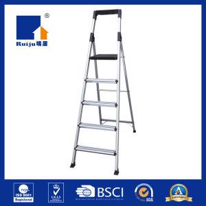 Escada de alumínio com bandeja de ferramenta do Corrimão