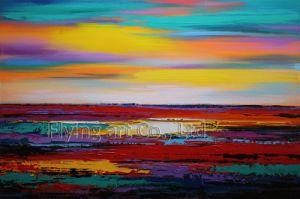 Arte acrilica astratta della parete della pittura a olio