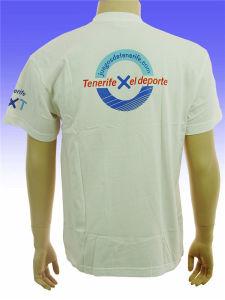 L'impression avec du coton polyester col rond T-Shirt Sleev court