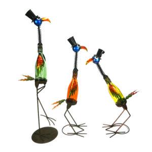 Het kleurrijke Dierlijke Ornament van de Flamingo van het Kunstwerk van het Ijzer met de MultiFles van de Kleur