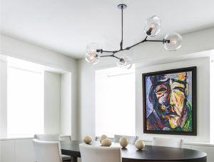 Lustre em vidro contemporâneo da suspensão da lâmpada de iluminação para cozinha
