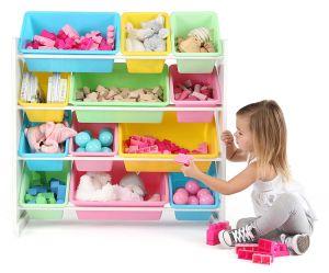 لعب [ستورج بوإكس] أطفال أثاث لازم مع بلاستيك 12 خانة لأنّ روضة أطفال