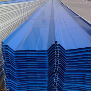 上塗を施してある高輝度カラー金属圧力屋根ふきのパネルを着色しなさい