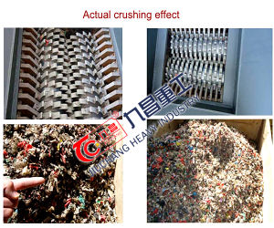 기계 압출기 플라스틱 기계장치 목제 Chipper 샤프트 슈레더를 재생하는 플라스틱