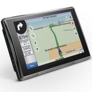 安く5.0  128MB RAMの車GPSの運行、8GBフラッシュ、FM送信機、Igoの新しいマップ