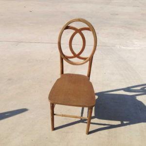 金カラー屋外の固体木のホテルの魚類フェニックスの結婚式の椅子