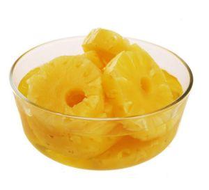 Conservas de fatias de abacaxi, pedaços, petiscos, pedaçosem calda