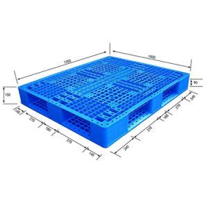 De HDPE Nestable pesado com Anti-Moisture paletes plásticos de armazenamento