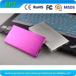 Nueva forma de libro de Metal Rosa 8000mAh batería externa portátil