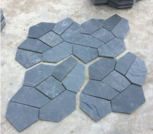 Venda por grosso de Pedra Natural placemats de ardósia negra