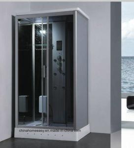 Caminar en la sala de ducha de vapor, cabina de ducha de vapor de LED