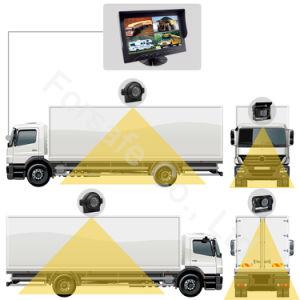 9-duim Systeem van de Camera van de Auto van het Scherm van de Vierling Rearview met 4-manier VideoInput + Camera Ahd