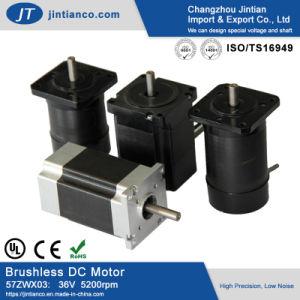57mm 36V 3phase 4000-5200 5000tr/min à 4 pôles c.c. brushless moteur à engrenages