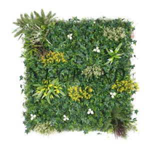Panel de cobertura vegetal artificial resistencia UV Jardín Vertical