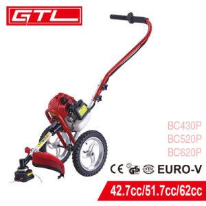 2 Stroke 51,7cc gasolina mano empujar el cepillo de la segadora de hierba cortadora barbero con ruedas