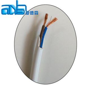 2X 2,5 mm2 Conducteur en cuivre PVC blanc Câble d'alimentation électrique