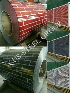Rouleau en acier galvanisé prélaqué imprimé/imprimé en briques grises bobine en acier galvanisé