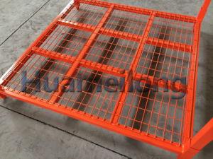 فولاذ موقعة إطار تخزين أمنان مع شبكة قاعدة
