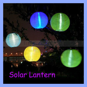 13000mcd 4 Colors Festival LED Solar Lantern Light Lamp für Garten Home