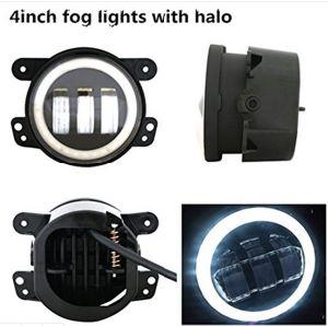 4 18W LED CREE Lámpara de la conducción de motocicletas Harley