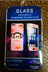 2.5D 9h сотовый телефон защитная пленка для экрана картона шаблон стекла пленки для iPhone 4/4s/5/5s (DSA-IP5003)