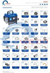 650W de Delen van de Generators van het Hoofd/van de Pakking/van het Carter/van de Zuiger/van de Benzine Caburetor van Cyliner