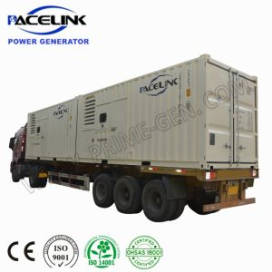 1000kVA Prime Rated USA Cummins Powered 20 ' hq Containerized Soundproof Diesel Generating Set with Inbuilt Muffler
