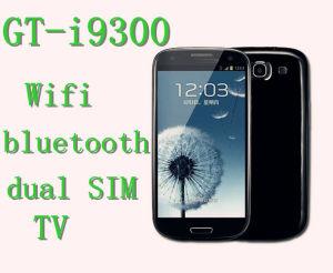 Lo schermo SIM doppio di resistenza di WiFi TV del telefono mobile Gt-I9300 si raddoppia macchina fotografica